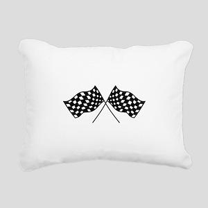 Checkered Flags Rectangular Canvas Pillow