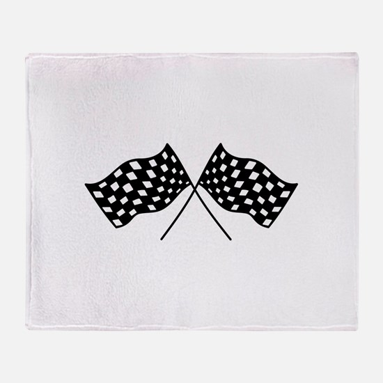 Checkered Flags Throw Blanket