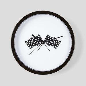 Checkered Flags Wall Clock