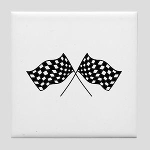 Checkered Flags Tile Coaster