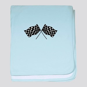 Checkered Flags baby blanket