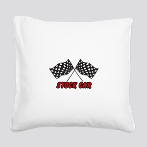STOCK CAR Square Canvas Pillow