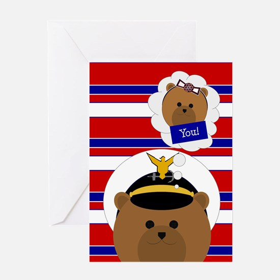 Coast Guard Officer Thinking Of Greeting Cards