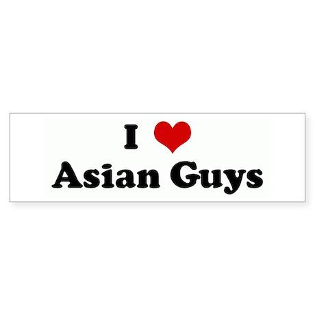 I Love Asian Guys Bumper Bumper Sticker by customhearts