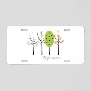The Four Seasons Aluminum License Plate