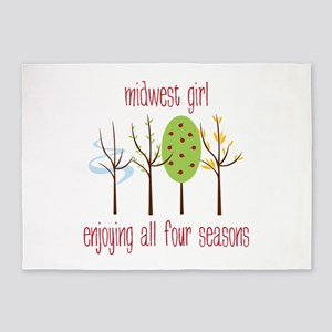 Midwest Girl Enjoying All Four Seasons 5'x7'Area R