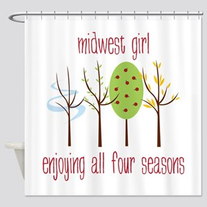 Midwest Girl Enjoying All Four Seasons Shower Curt