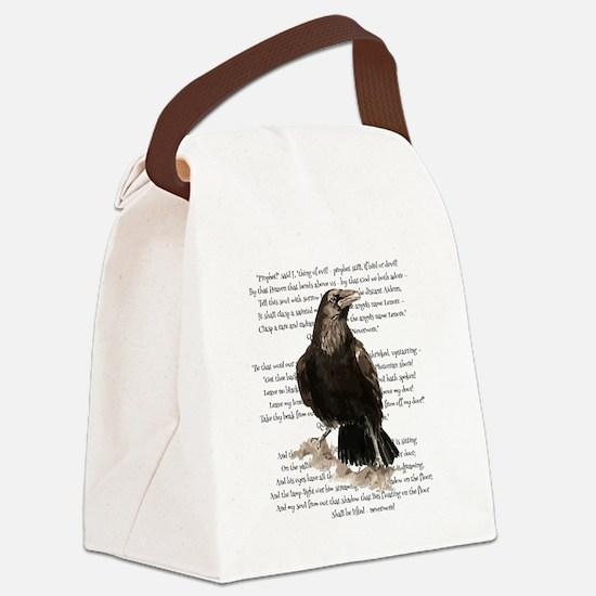 Edgar Allen Poe The Raven Poem Canvas Lunch Bag