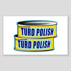 Turd Polish Rectangle Sticker