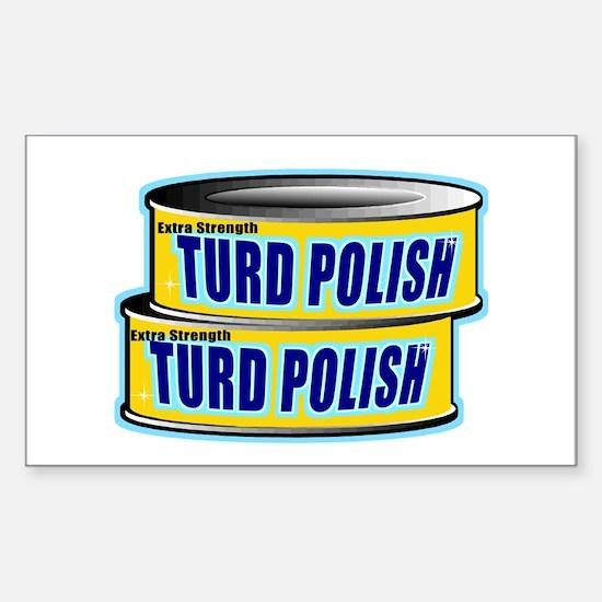Turd Polish Rectangle Stickers