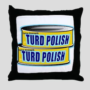 Turd Polish Throw Pillow