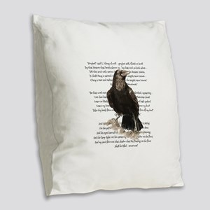 Edgar Allen Poe The Raven Poem Burlap Throw Pillow