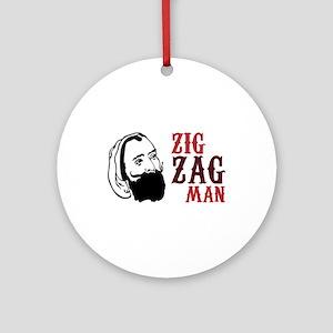 Zig Zag Man Ornament (Round)