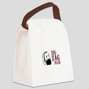 Zig Zag Man Canvas Lunch Bag