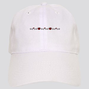 Tulips Border Baseball Cap