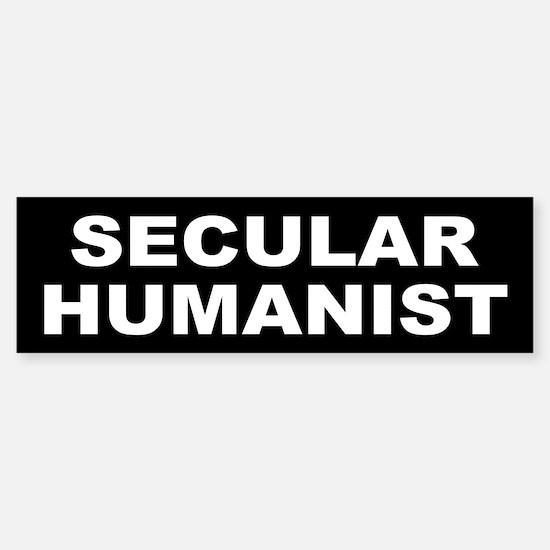 SECULAR HUMANIST Bumper Bumper Bumper Sticker