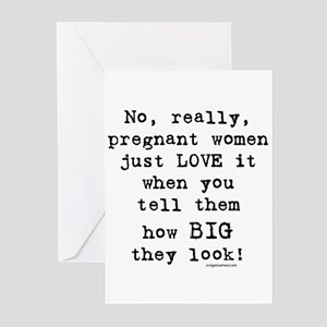 First time mom greeting cards cafepress pregnancy size sarcasm greeting cards pk of 10 m4hsunfo Choice Image