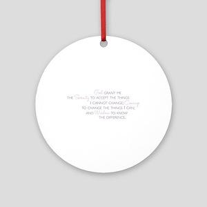 Serenity Prayer Ornament (Round)