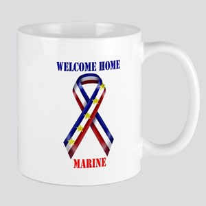 Ribbon2-marine Mugs