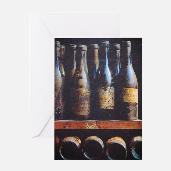 Antique Wine Bottles Greeting Cards