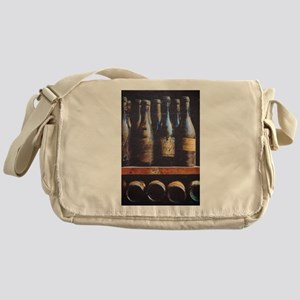 Antique Wine Bottles Messenger Bag
