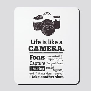 camera-grunge-quote Mousepad