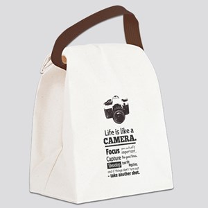 camera-grunge-quote Canvas Lunch Bag