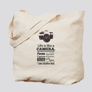 camera-grunge-quote Tote Bag