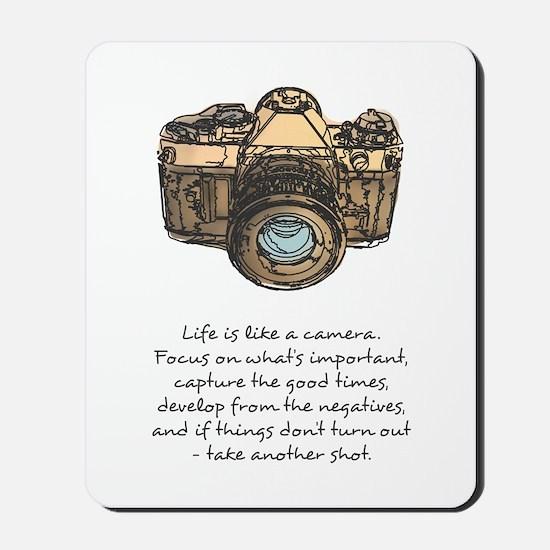 camera-quote-colour Mousepad