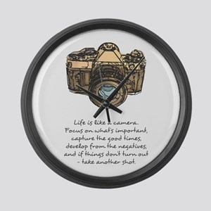 camera-quote-colour Large Wall Clock