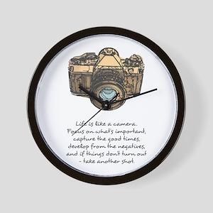 camera-quote-colour Wall Clock