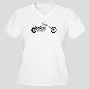 BIKERS RULE Women's Plus Size V-Neck T-Shirt