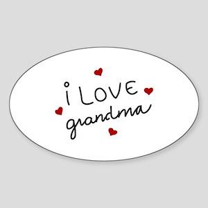 I Love Grandma Sticker