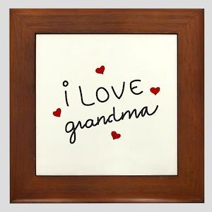 I Love Grandma Framed Tile
