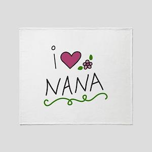 I Love Nana Throw Blanket
