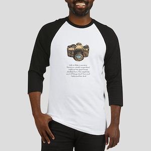 camera-quote-colour Baseball Jersey