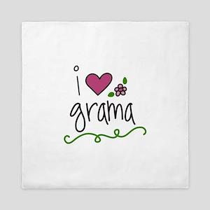I Love Grama Queen Duvet