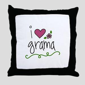 I Love Grama Throw Pillow