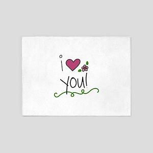 I Love You 5'x7'Area Rug