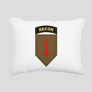 1st ID Recon Rectangular Canvas Pillow