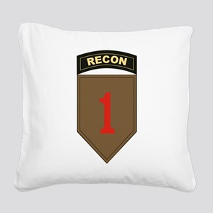 1st ID Recon Square Canvas Pillow