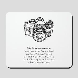 camera-quote Mousepad