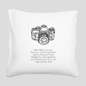camera-quote Square Canvas Pillow