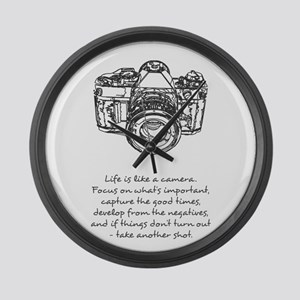 camera-quote Large Wall Clock