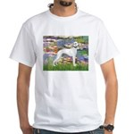 Lilies & Whippet White T-Shirt
