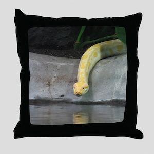 Albino python Throw Pillow