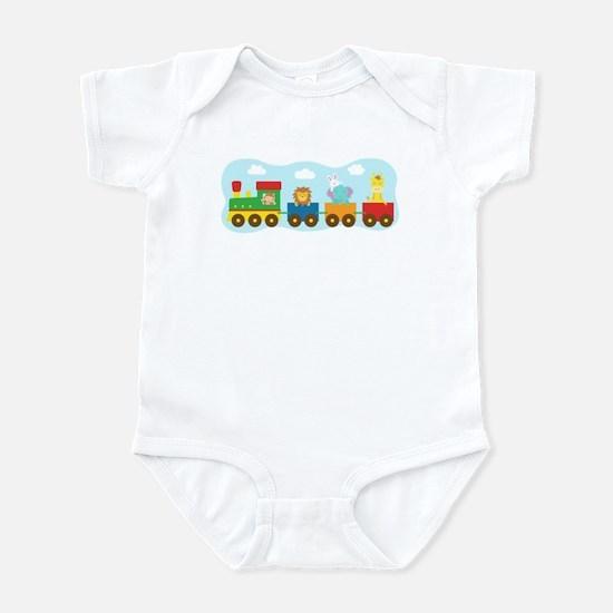 animal-train-T-shirt Body Suit