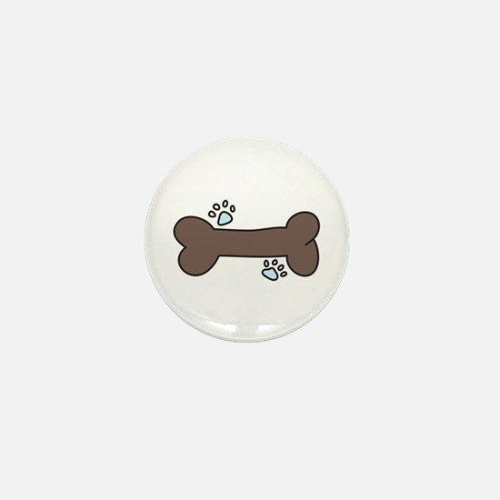 Dog Bone Mini Button