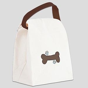 Dog Bone Canvas Lunch Bag