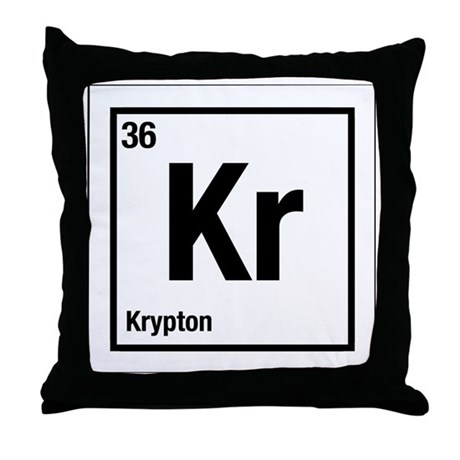 Krypton kr periodic table no36 throw pillow by listing store 119644169 krypton kr periodic table no36 throw pillow urtaz Choice Image